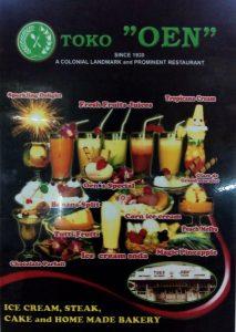 Menu dan harga makanan di Toko Oen di Kota Malang