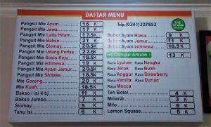 Depot Pangsit Mie Bromo Pojok Kota Malang
