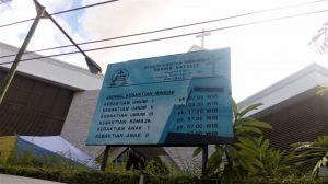 Jam Kebaktian di GKI Darmo Satelit SUB