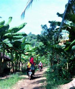 Jalan Masuk Pantai Tiga Warna di Malang Selatan