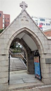 Gerbang Gereja St. Andrew Kowloon Hong Kong