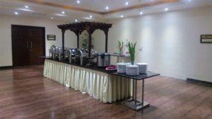 Lobi ruang pertemuan Hotel Aria Gajayana Kota Malang