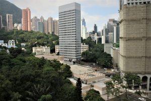 pemandangan dari menara Hong Kong Park
