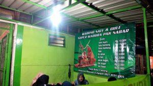 Menu Sate Madura Pak Sabar di Jalan Bandung Kota Malang