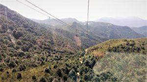 Pemandangan dari atas kereta gantung Ngong Ping