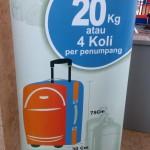 Aturan Baru Batasan Berat Bagasi  Penumpang Kereta Api Indonesia (KAI)