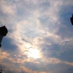 Menara Kembar Masjid Agung kacamata keindahan Kota Bandung