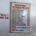 Makan Sop Ayam Pak Min Klaten Di Kota Malang