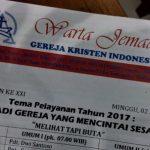 Jam Kebaktian di GKI Kota Batu Jawa Timur