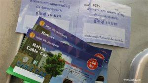 Naik Kereta Kabel di Municipal Park Hat Yai Thailand Selatan