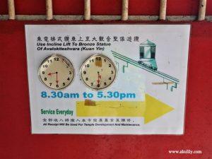 Naik Kereta Kabel di Kek Lok Si Temple Penang