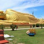 Melihat Budha Tidur di Wat Phranon Laem Pho Songkhla Thailand