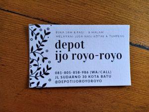 Depot Ijo Royo-royo Tempat Makan Jempolan di Kota Wisata Batu