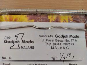 Wajib Coba Pangsit Mie Gadjah Mada Kota Malang Yang Legendaris