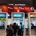 Loket Penjualan Tiket Aerobus ke KL Sentral di KLIA2